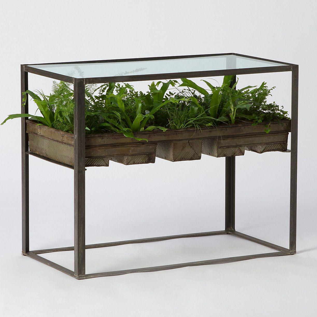Terrarium Side Table | Terraria, Bread tin and Contemporary side ...
