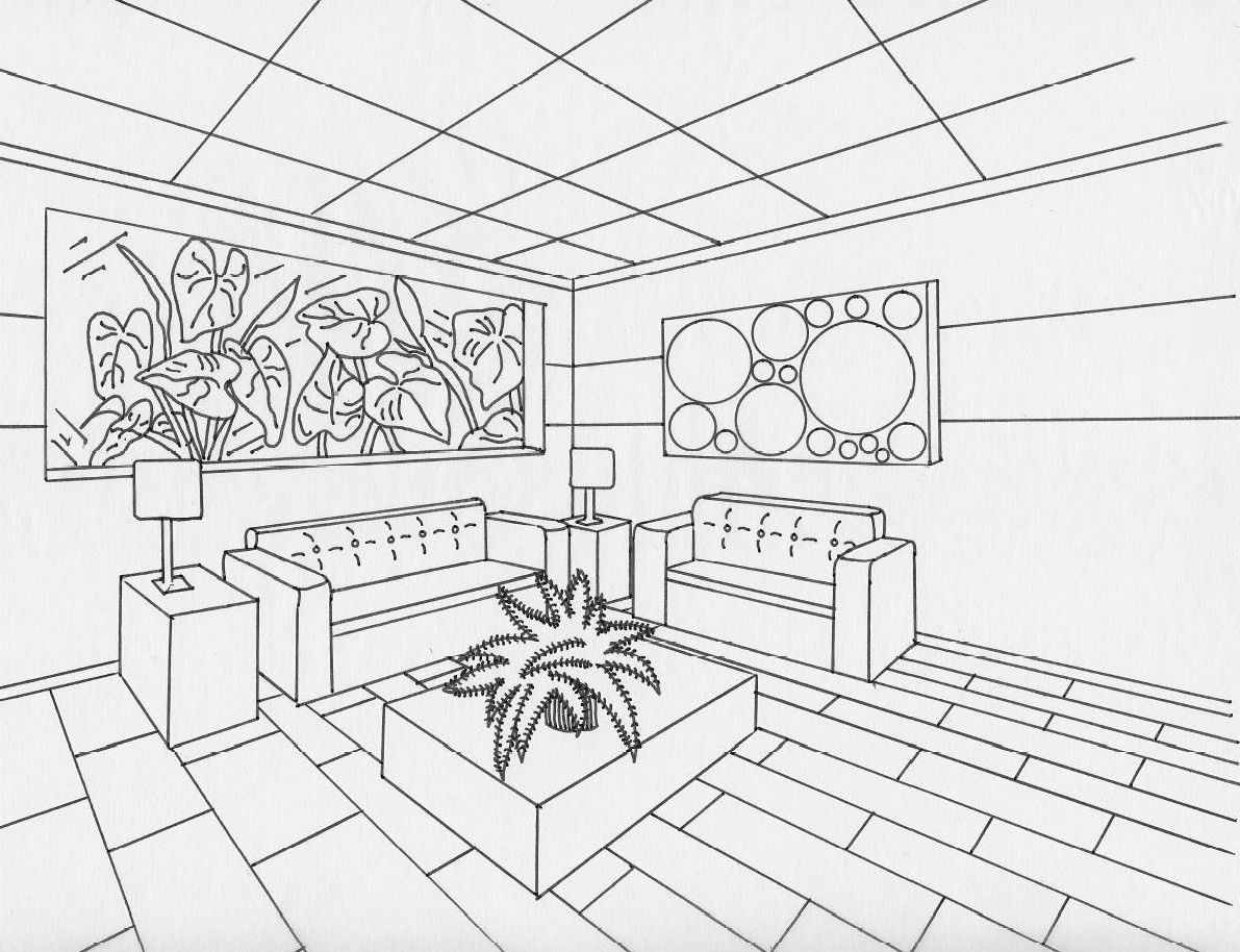 2 point perspective t 5 pinterest perspective for Window design sketch