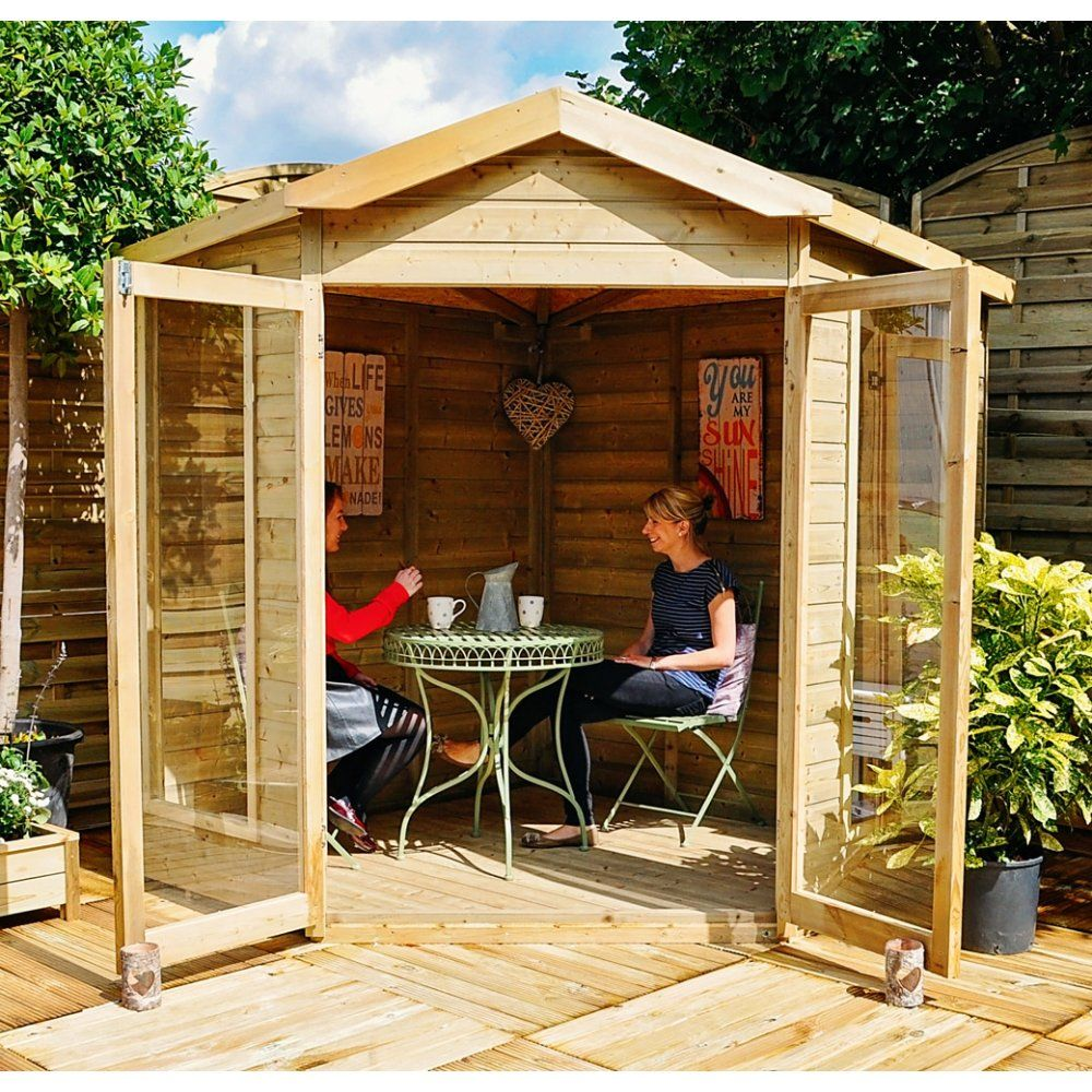 Blockley 7 x 7 Corner Summerhouse Pergola, Gazebo