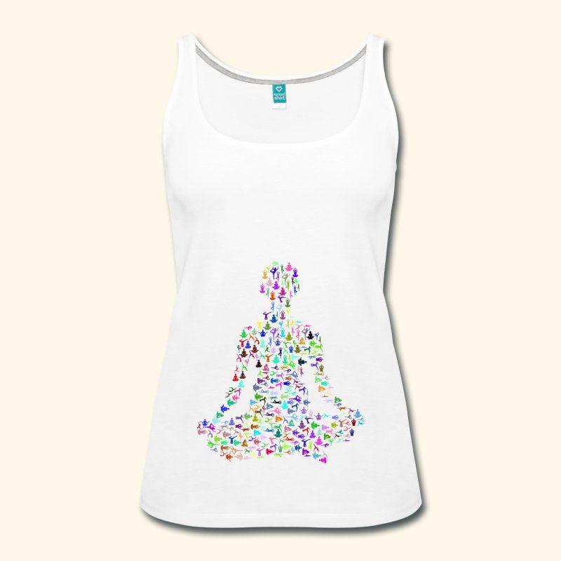 Yoga Schneidersitz Meditation bunt Geschenkidee | Frauen Premium Tank Top