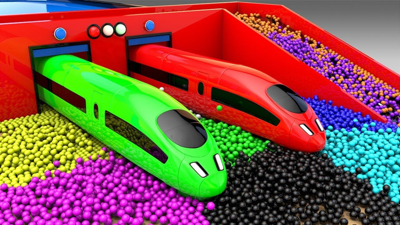 Learn Colors For Children With Bullet Trains Coloring With Lot Of Color Coloring For Kids Preschool Kids Preschool Games