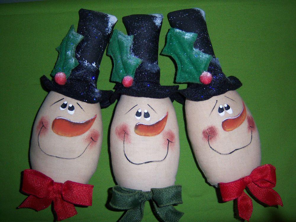 Primitive Snowman *Cupboard Tuck*Bowl Basket Filler*Christmas*Winter*