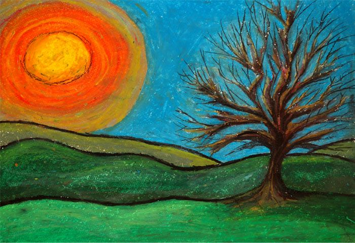 Oil Pastels My First Oil Pastel Painting Oil Pastel