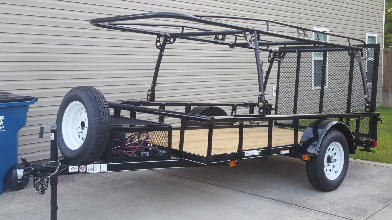 5.5x10 ft. Carry on trailer and Harbor Freight truck rack