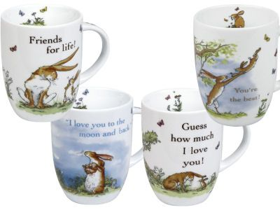 Set of 4 Konitz Mugs Guess How Much I Love you Collection Mugs