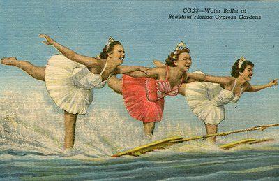 Vintage water ski ballerinas  #ridecolorfully