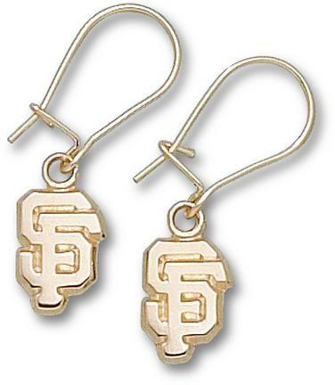 San Francisco Giants 38 SF Dangle Earrings 10KT Gold Jewelry