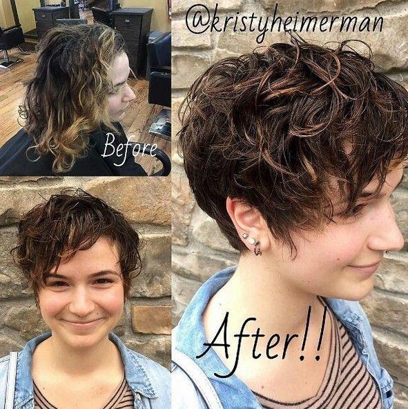 Pixie Cut Wavy Hair