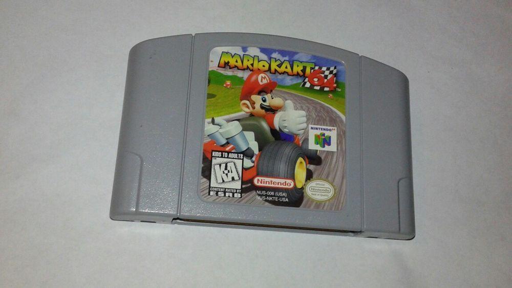Mario Kart 64 N64 Nintendo 64 Authentic Ntsc Cartridge Tested