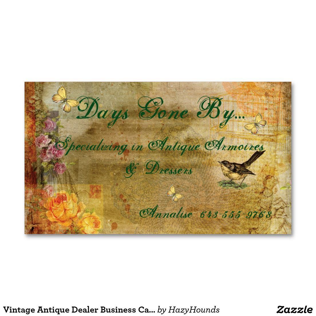 Vintage Antique Dealer Business Card   Business Cards, Invitations ...