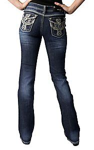 536bcb69a5a Miss Me® Womens Multicolor Winged Cross with Crystals Open Pocket Boot Cut  Jean | Cavender's Boot City | Style of My Own | Miss me jeans, Cavenders  boots, ...