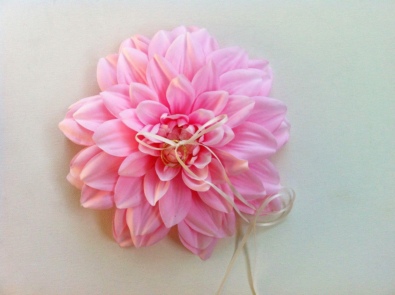 Pink Wedding: Pink flower ring bearer pillow | Pink Weddings ...