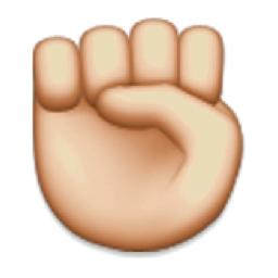 Raised Fist Emoji U 270a U E010 Raised Fist Fist Emoji