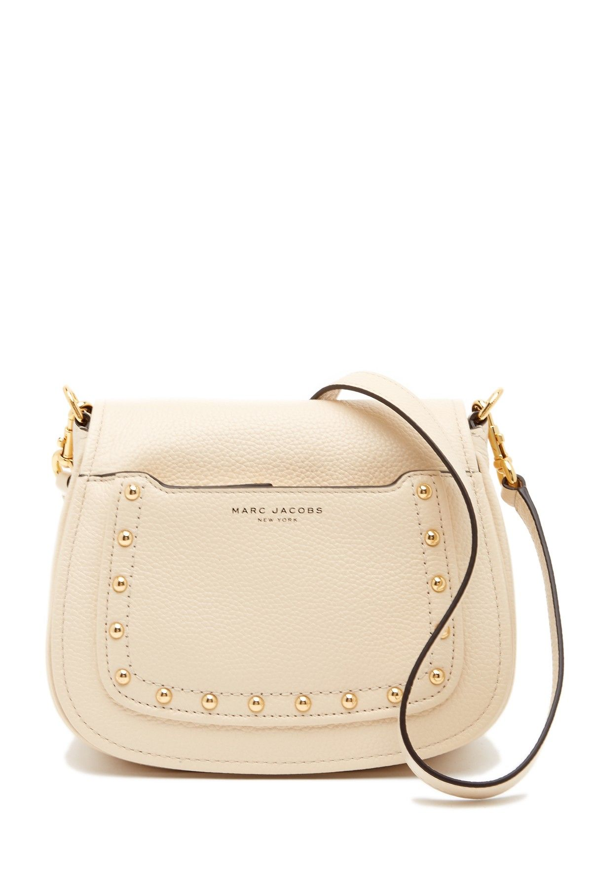 4c7923abbea9 Image of Marc Jacobs Empire City Stud Mini Messenger Leather Crossbody Bag