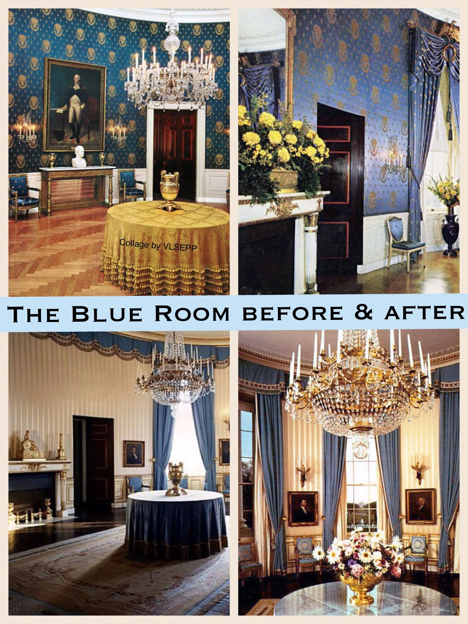 White House Blue Room : white, house, White, House, Ideas, Rooms,, House,