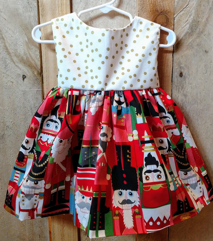 20d3b83ca Nutcracker dress, nutcracker baby dress, nutcracker toddler dress, winter  dress, girls christmas dress, toddler dress with sleeves, by  MightyTotsDressShop ...