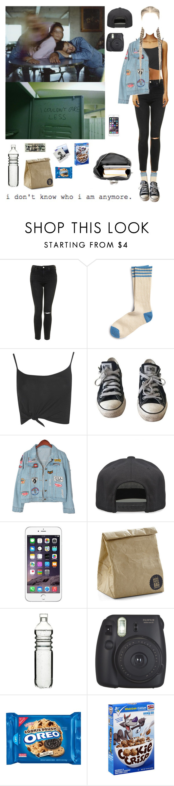 """School"" by djulia-tarasova ❤ liked on Polyvore featuring Topshop, Sperry, Boohoo, Converse, Chicnova Fashion, Alex and Chloe, Sagaform and Polaroid"