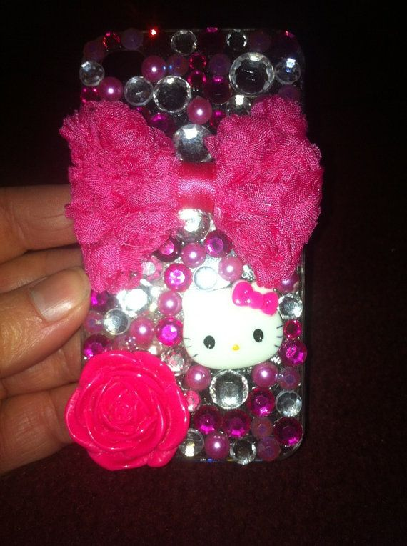 HOT Pink Hello Kitty iPhone 4 Bling Case by PiratesBlingBoutique, $30.00