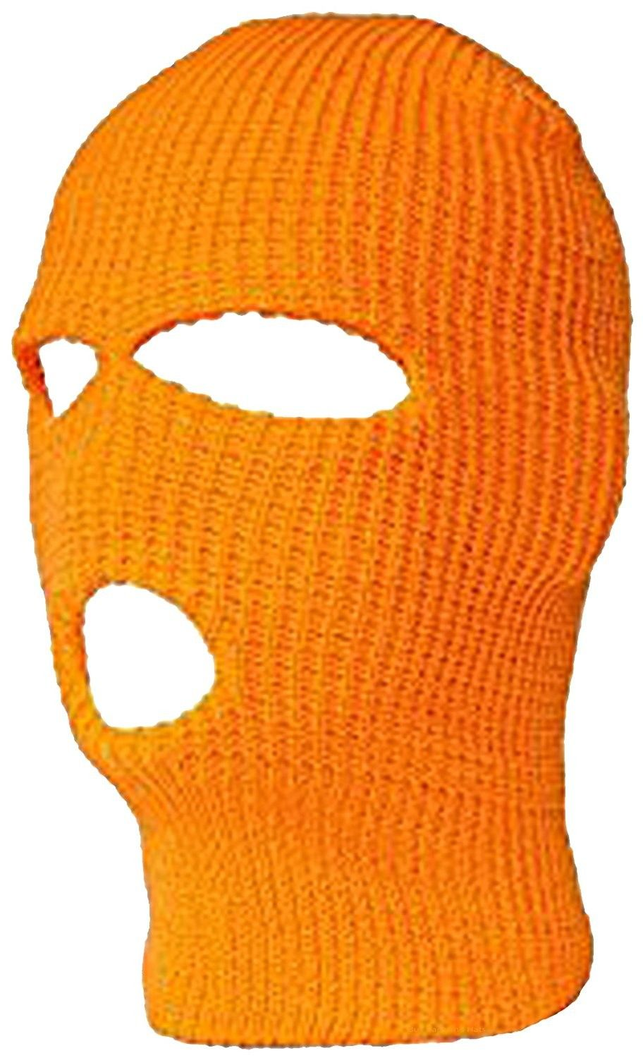 ORANGE FACE MASK Hi-Vis Full Skull Cap Beanie Hunting Safety Winter -  C112O9XQN0L - Hats   Caps 433b595c653