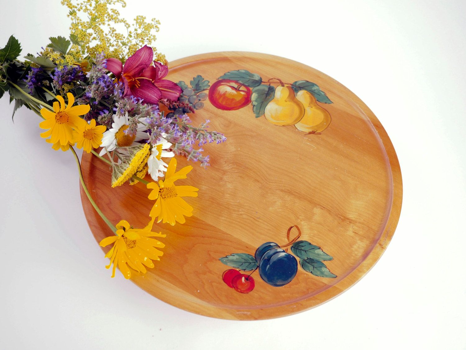 Lazy Susan Milwaukee Lazy Susan Hand Painted Wood With Fruit Design From Gh Specialty