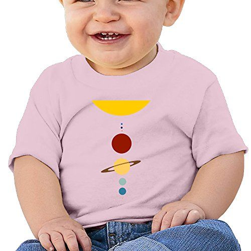 Lennakay Work Baby Girls Minimal Solar System ONeck Cute Tee Short Sleeve Size6 M * Click image to review more details.