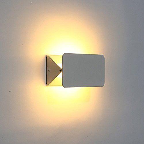 LED Wandstrahler Von Amzdeal  Innenbeleuchtung 6 W Aluminium Verstellbares  Visier LED Nachtlampe