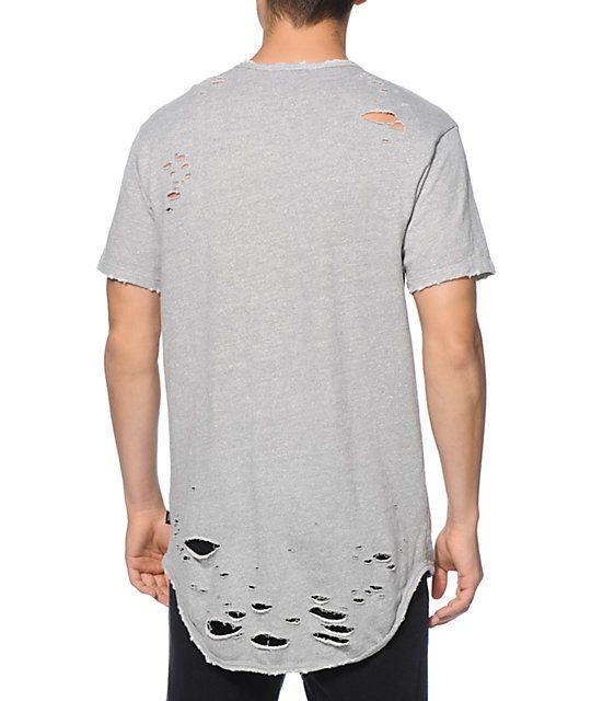 98d276a9a EPTM. Thrashed Distressed T-Shirt | Long T-shirt | Shirts, T shirt ...