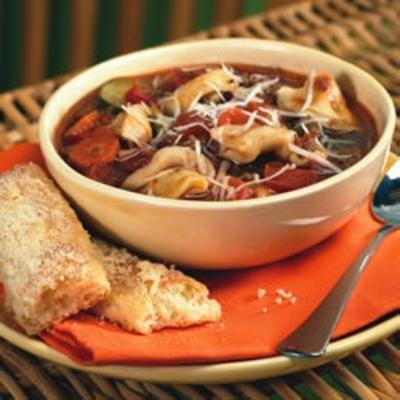Italian Sausage Soup with Tortellini