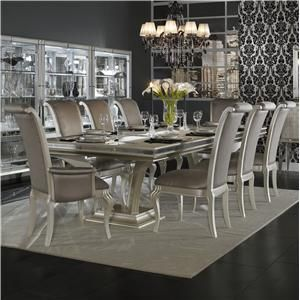 Hollywood Swank 9 Piece Table And Chair Set By Aico Amini