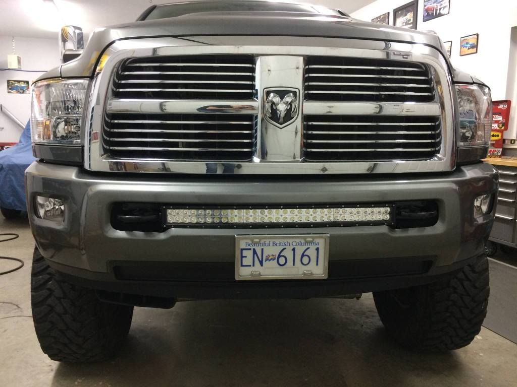 Tow Hooks For Trucks >> 30 Curved Led Light Bar Installed Flush In Between Tow