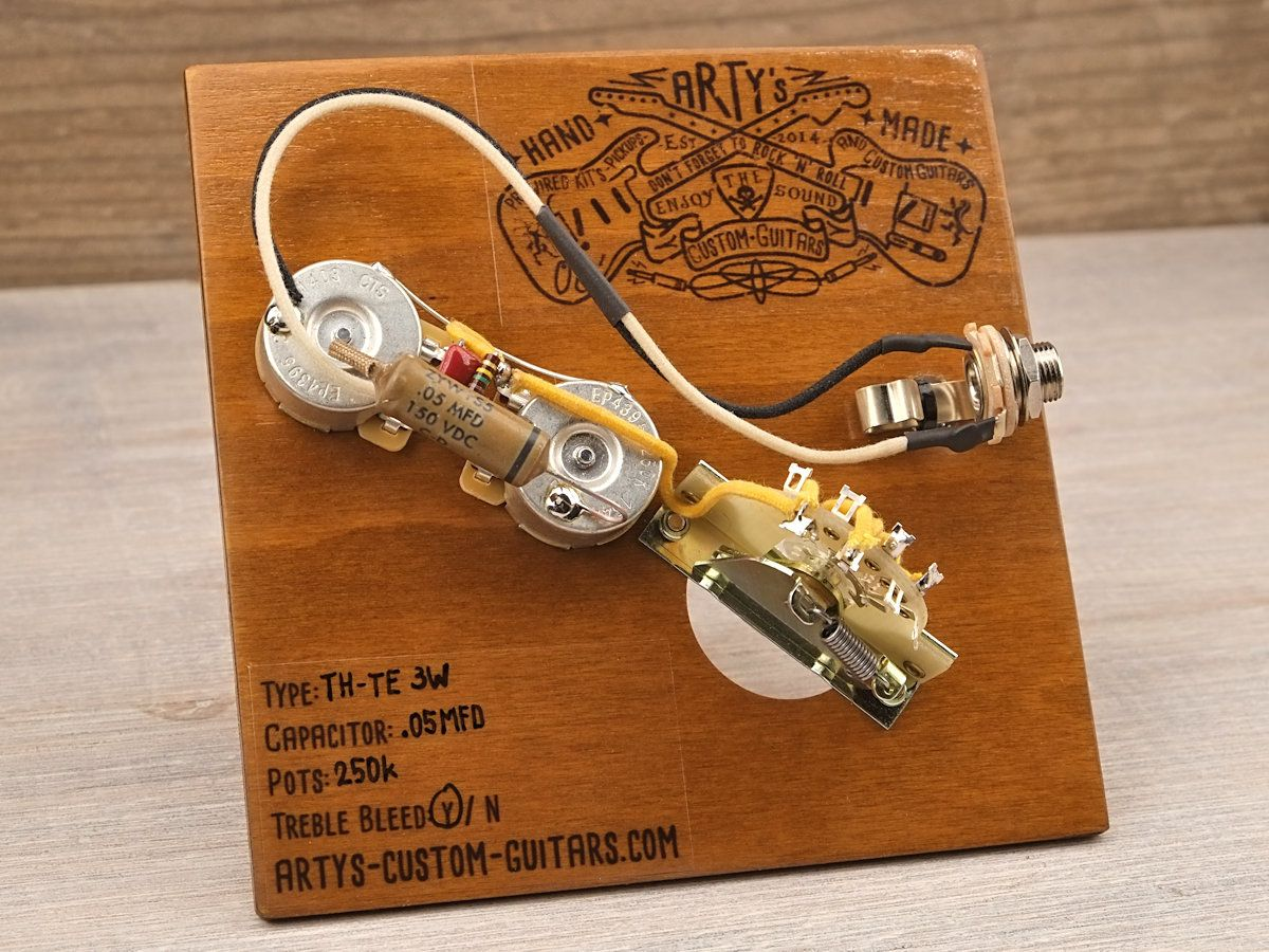 Artys Custom Guitars Thinline Telecaster Standard Wiring Kit Pre Harness For Wired Prewired Control Plate
