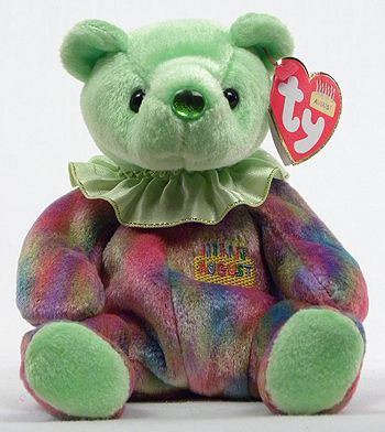 Ty Beanie Baby -AUGUST My nose is the color of my birthstone. Peridot It  brings romance f61f053495a