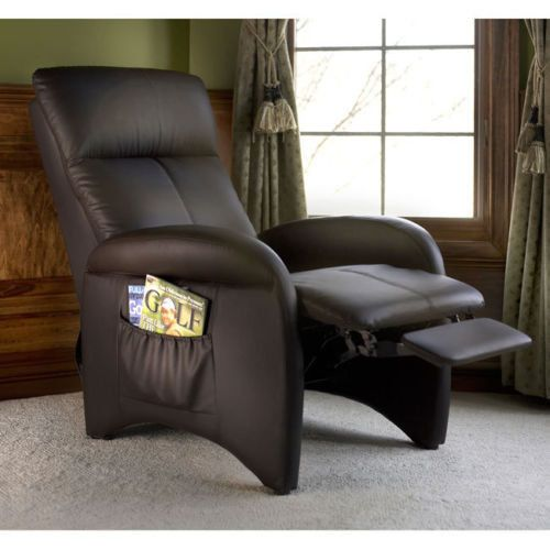 Home TV Room Back Pain Foot Rest Reclining Chairs Furniture Recliners Chocolate