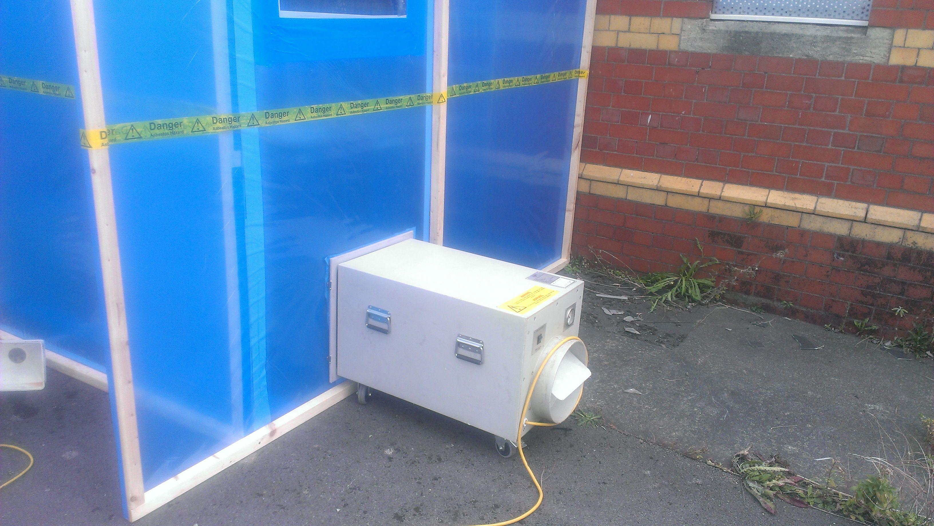 Asbestos Enclosure with Negative Pressure Unit (Port