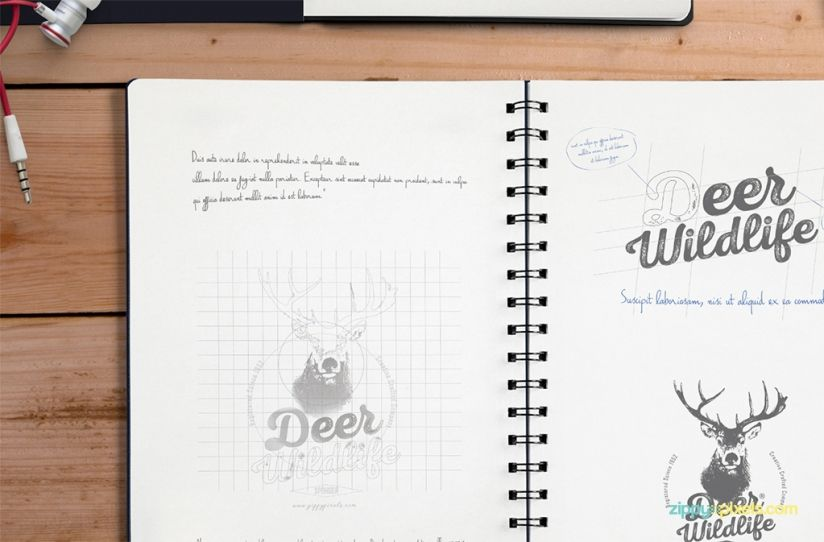 Download free notebook mockup for showcasing your creative designs - notebook paper download