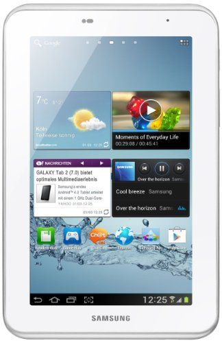 Samsung Galaxy Tab 2 P3110 Wifi Tablet 17 8 Cm 7 Zoll Display 1ghz Prozessor 1gb Ram 16 Gb Speicher 3 2 Megapixel Kamer Tablet Samsung Android