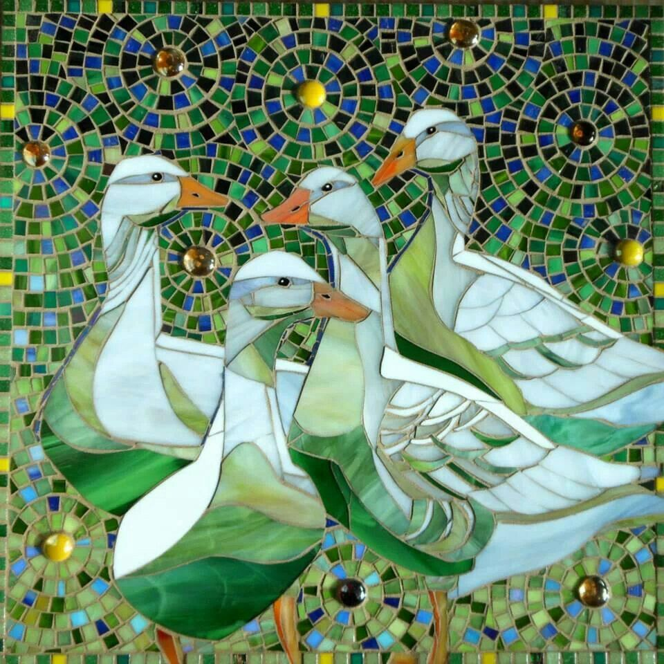 Mosaic Geese Print - Limited Edition Giclee Print - Goose Art ...