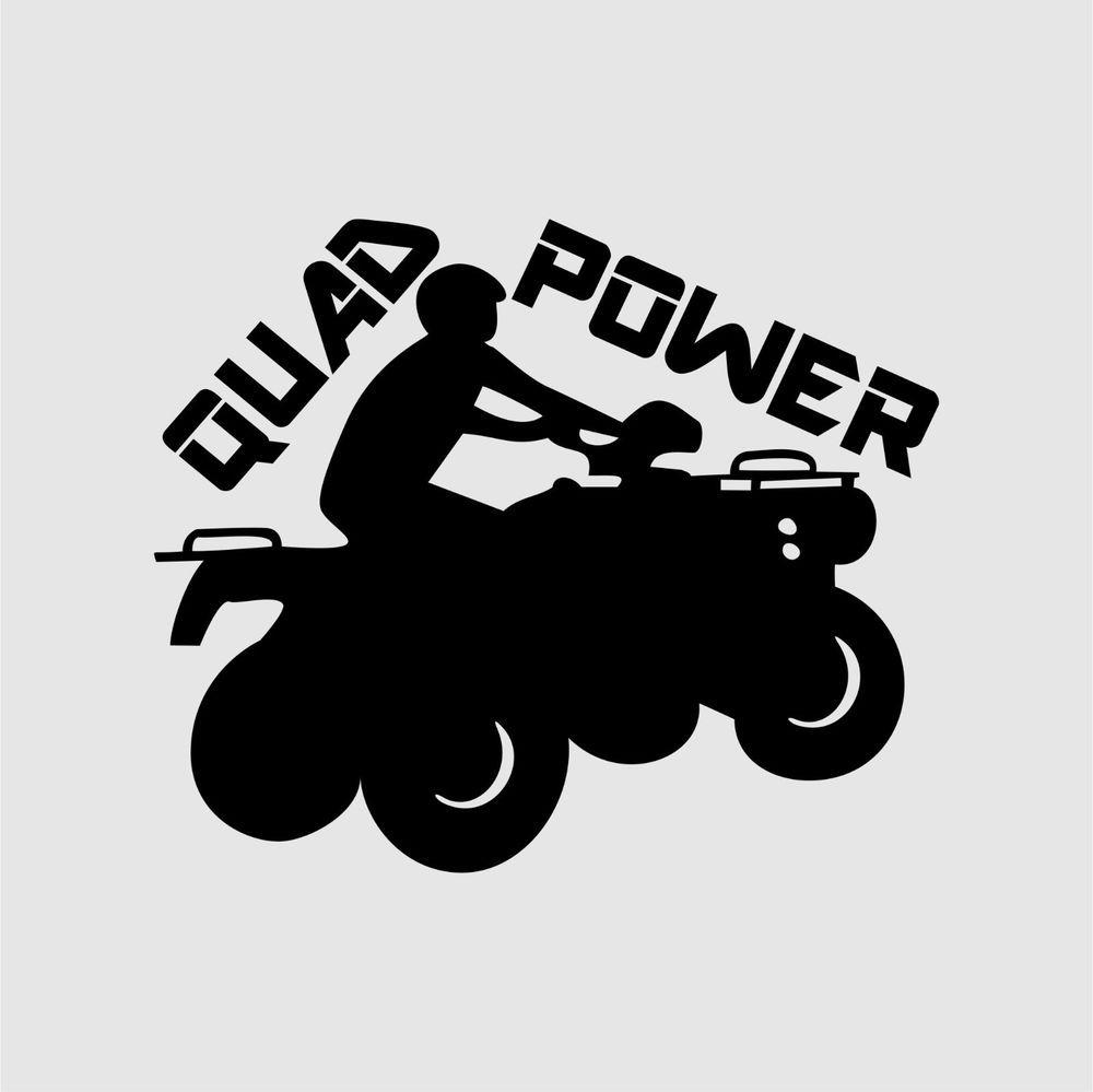aufkleber quad power atv tuning sticker  ebay  motorrad