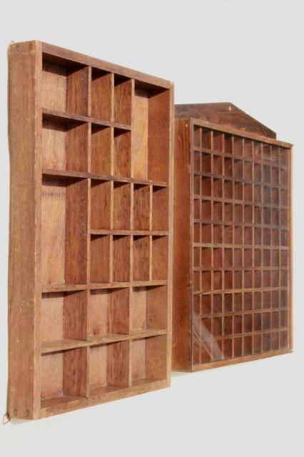 Display Shelves For Collectibles >> Vintage Wood Shadowbox Display Case Shelves For Thimbles Miniatures