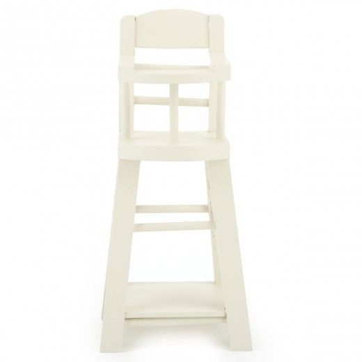 off white wooden toy high chair