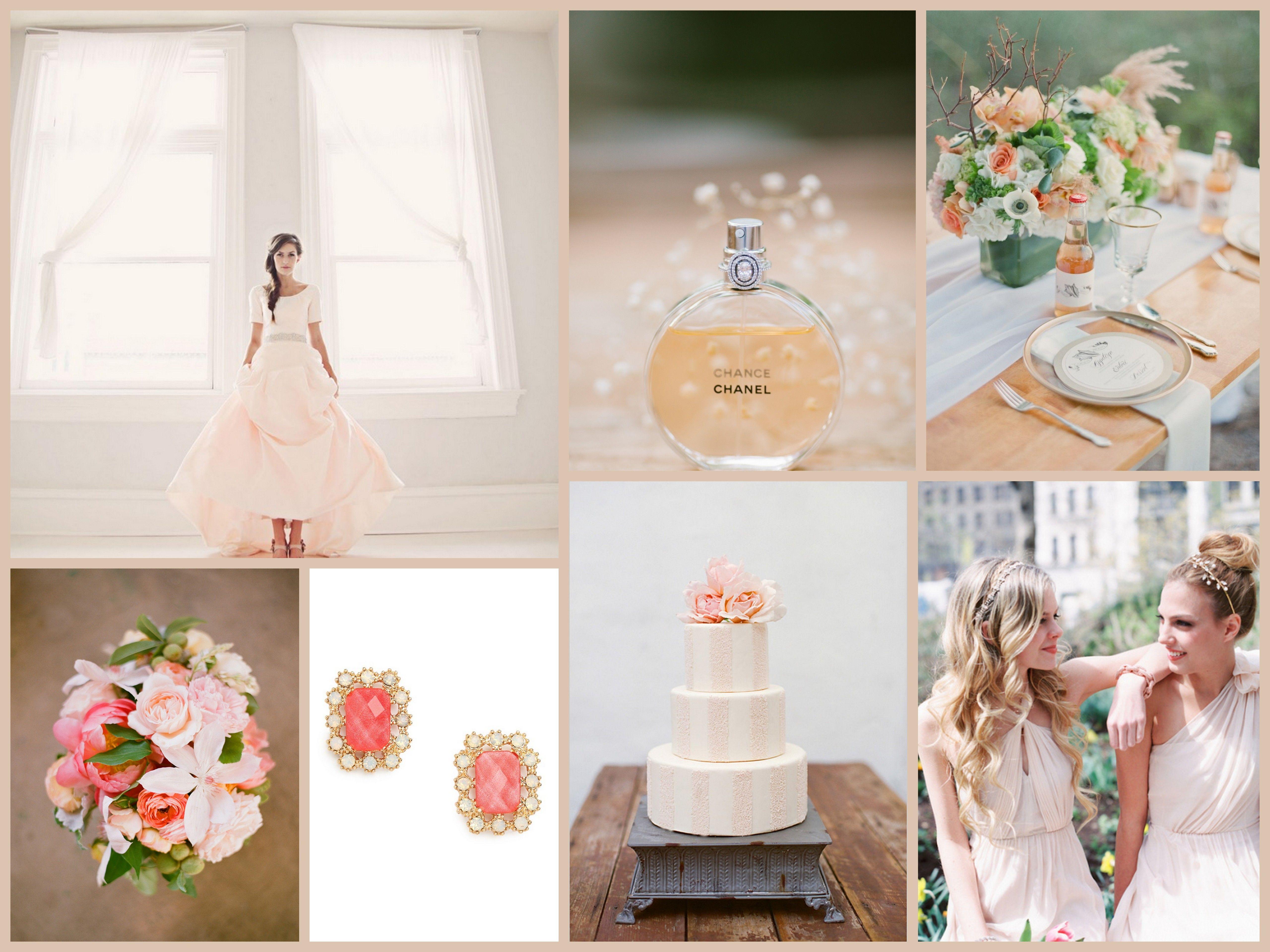 Mood Board Monday: Blushed Beauty | Blush wedding theme, Blush ...