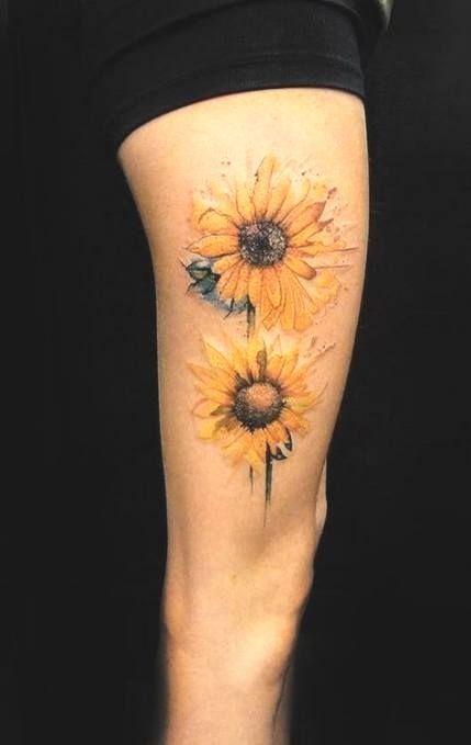 #tattoo #Tattoo #sunflower #backgrounds  Tattoo sunflower backgrounds sunflowers 60 ideas