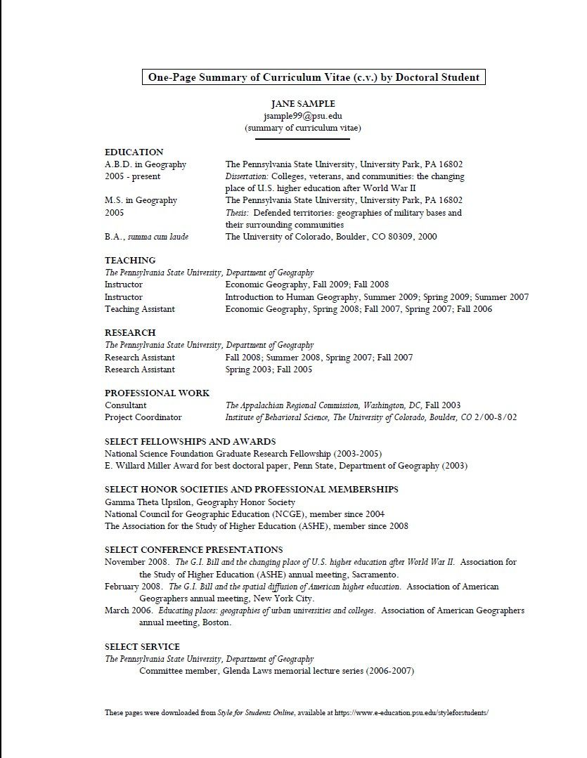 Sample Cv Format For Meteorology Graduate Free Resume Sample Meteorology Resume Template Examples Cv Format