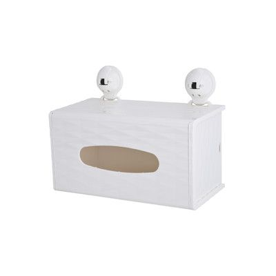 Wall Mounted Tissue Box Holder And Paper Towel Holder Combo