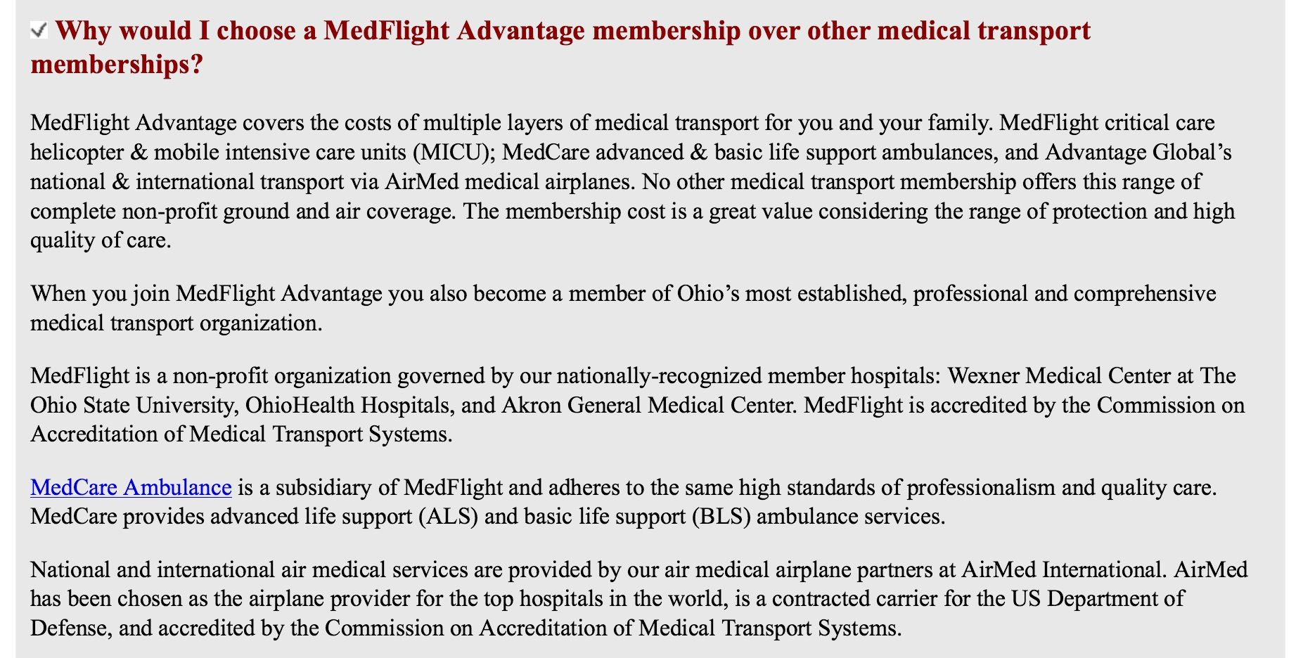 Why Is Medflight Advantage Better Than Other Medical Transport Memberships Basic Life Support How To Find Out Intensive Care Unit