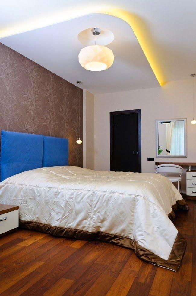 new concept 1158f 8c4ef LED ceiling lights, corner Bedroom false ceiling design in ...