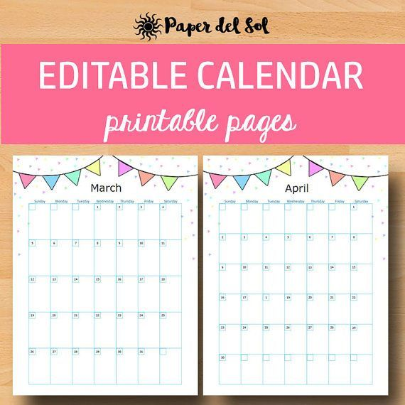 Printable Calendar 2017, Printable Wall Calendar Never miss a - how to create your own calendar