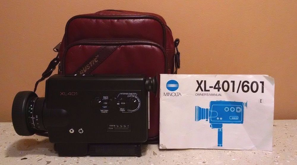 Mint Vintage Minolta Xl401 Super 8 Camera Film Camera W Manual Bag Super 8 Camera Vintage Movies Movie Camera