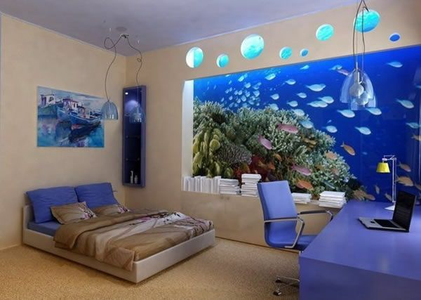 Aquarium Schlafzimmer ~ New style aquarium design ideas for your home