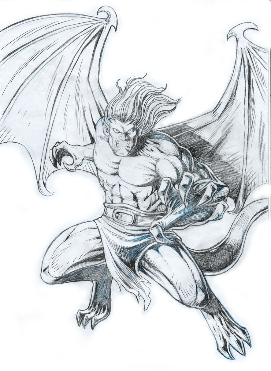 Gargoyle Tatúajes Dibujos A Lápiz Dibujos Animados Y Arte